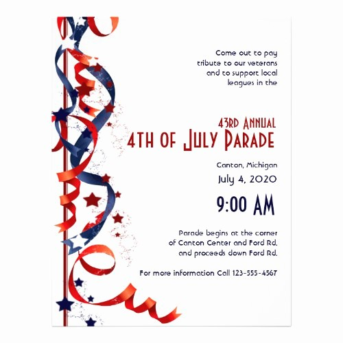 Fourth Of July Invitation Template Lovely Unique Invitation Flyer Templates and Designs