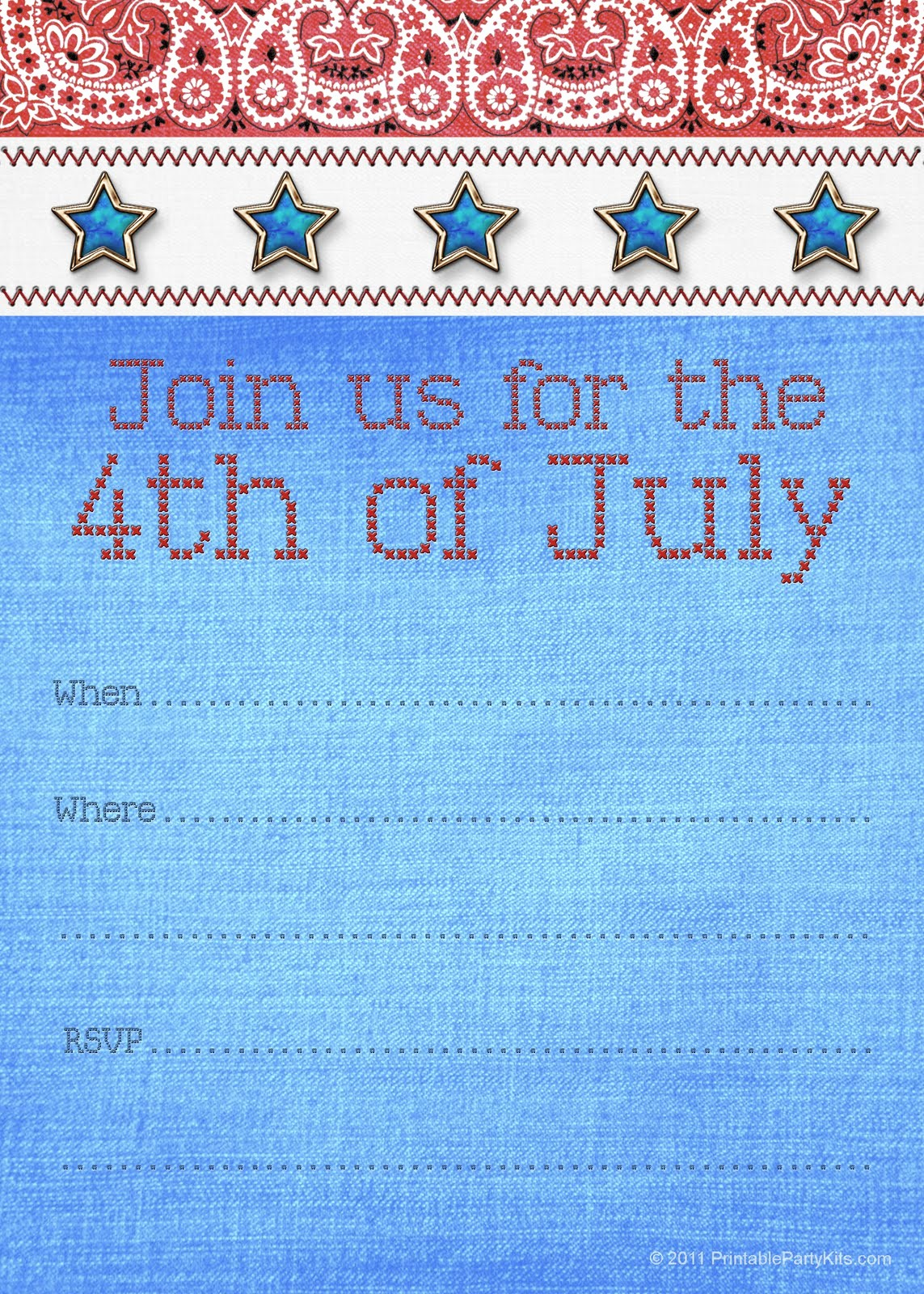 Fourth Of July Invitation Template Luxury Free Printable Party Invitations Fourth Of July