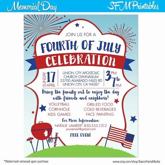 Fourth Of July Invitation Template New 1000 Images About Fourth 4th Of July Invitation On