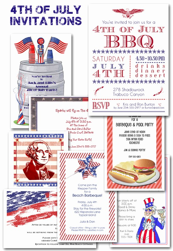 Fourth Of July Invitation Template New 4th Of July Party Planning and Invitations the