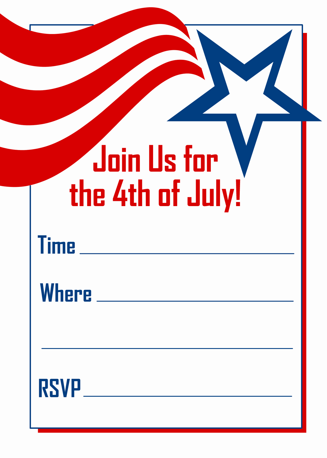 Fourth Of July Invitation Template New Fourth July Invitations Template