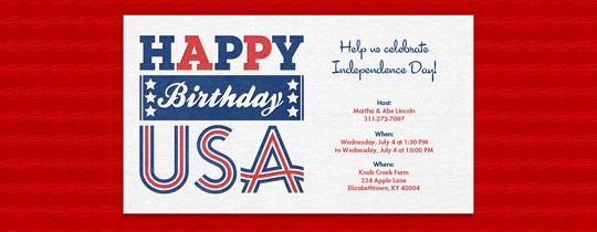 Fourth Of July Invitation Template Unique 4th Of July Free Online Invitations