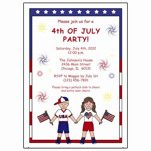 Fourth Of July Party Invitations Awesome Fourth Of July Party Invitation – Mandys Moon Personalized