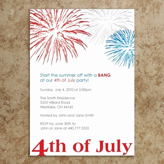 Fourth Of July Party Invitations Beautiful 4th Of July Invitation Let Freedom Ring