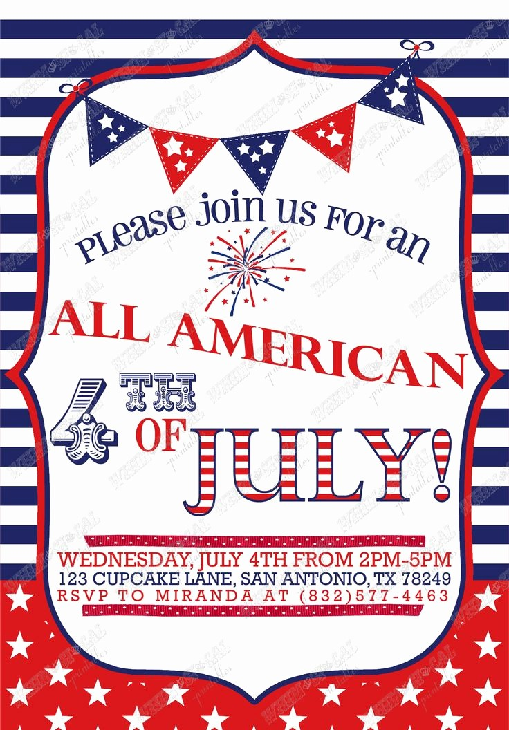 Fourth Of July Party Invitations Beautiful 4th Of July Party Invitation the Holidays