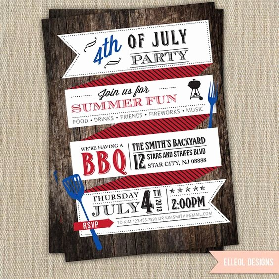 Fourth Of July Party Invitations Best Of Party Invitations 4th Of July Party and Invitations On