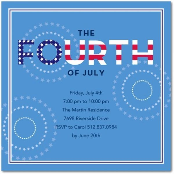 Fourth Of July Party Invitations Best Of Pin by Karen Carver On 4th Of July