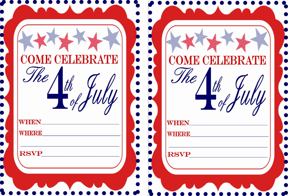 Fourth Of July Party Invitations Elegant Free July 4th Party Printables From 9 to 5 Mom