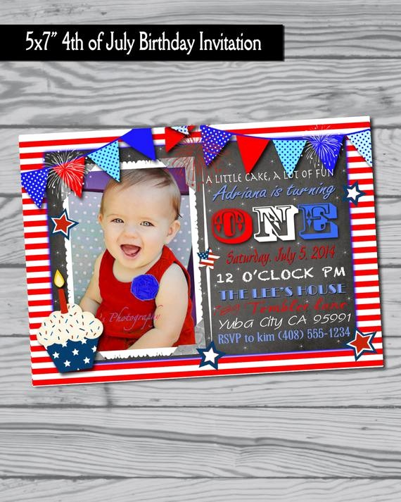 Fourth Of July Party Invitations Fresh 4th Of July Birthday Party Invitation Fourth Of July Party