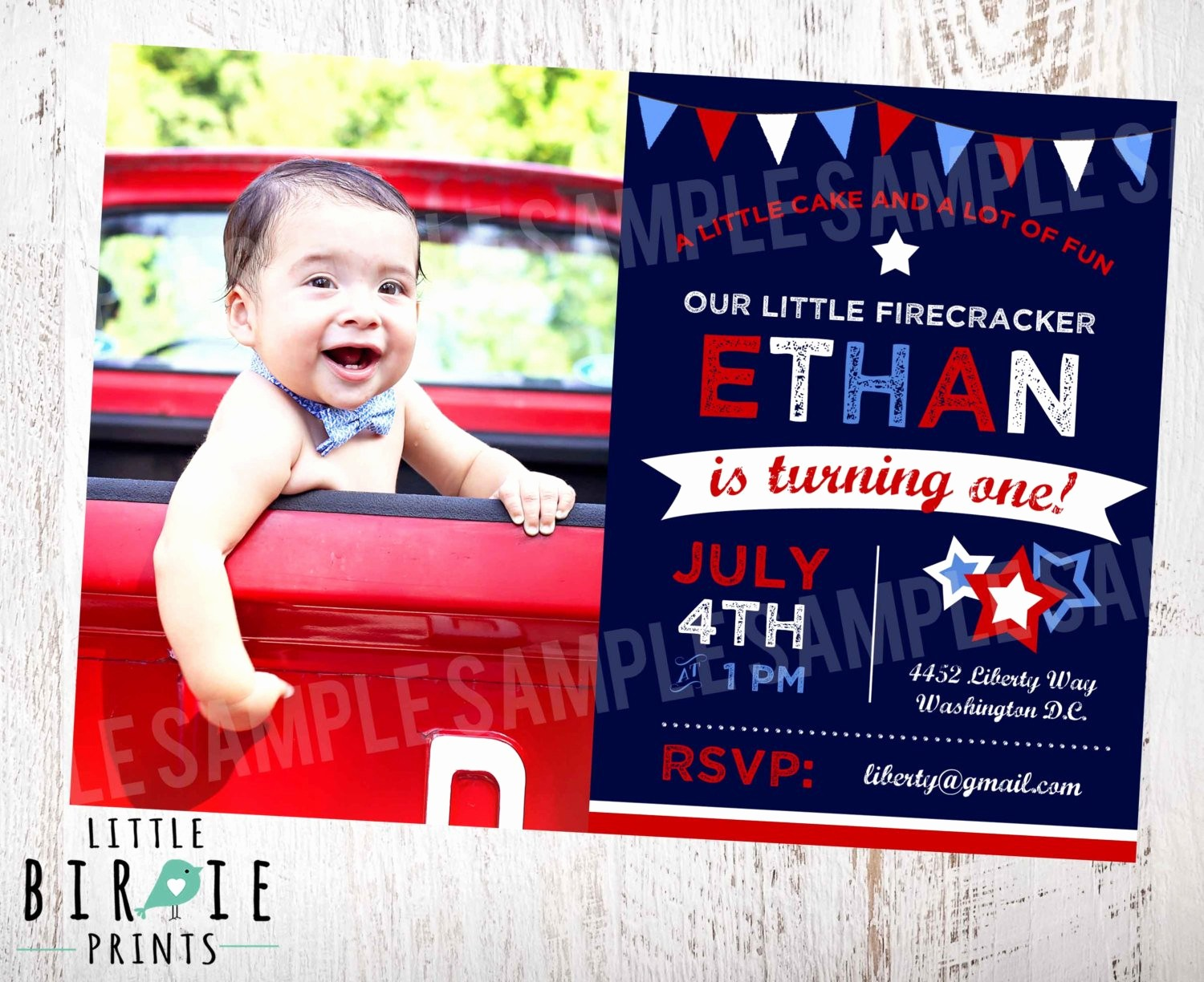 Fourth Of July Party Invitations Fresh 4th Of July Invitation 4th Of July Birthday by