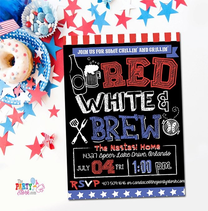 Fourth Of July Party Invitations Inspirational 4th Of July Invitations Printable Fourth Of July Party