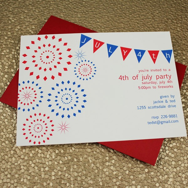 Fourth Of July Party Invitations Lovely 4th Of July Party Invitation Template – Download & Print