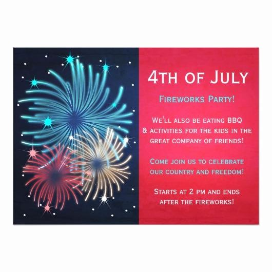 Fourth Of July Party Invitations Lovely 4th Of July Party Invitations – Invitations 4 U