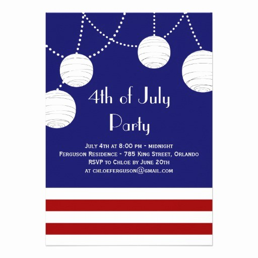 Fourth Of July Party Invitations Lovely 4th Of July Party Lanterns Invitation
