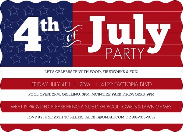 Fourth Of July Party Invitations Luxury Fourth Of July Party Ideas themes & Invitations