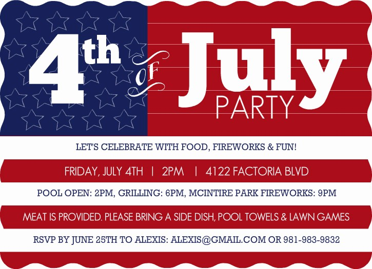 Fourth Of July Party Invitations Luxury Purpletrail American Flag Fourth Of July Cookout Party