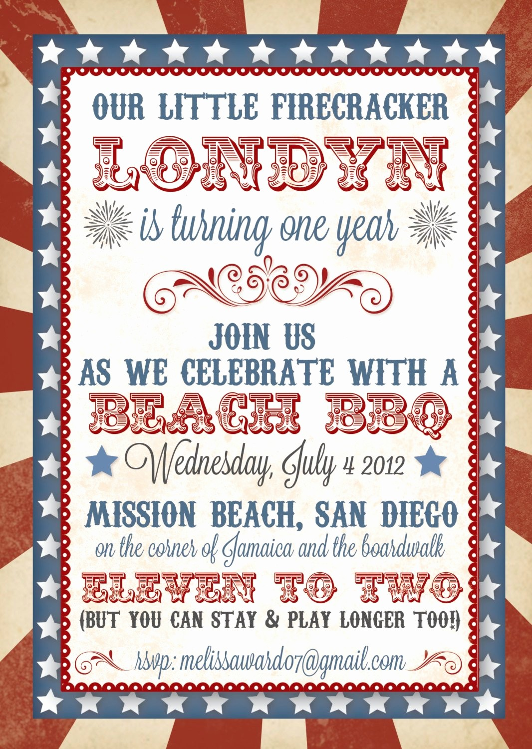 Fourth Of July Party Invitations New 4th Of July Birthday Invitation