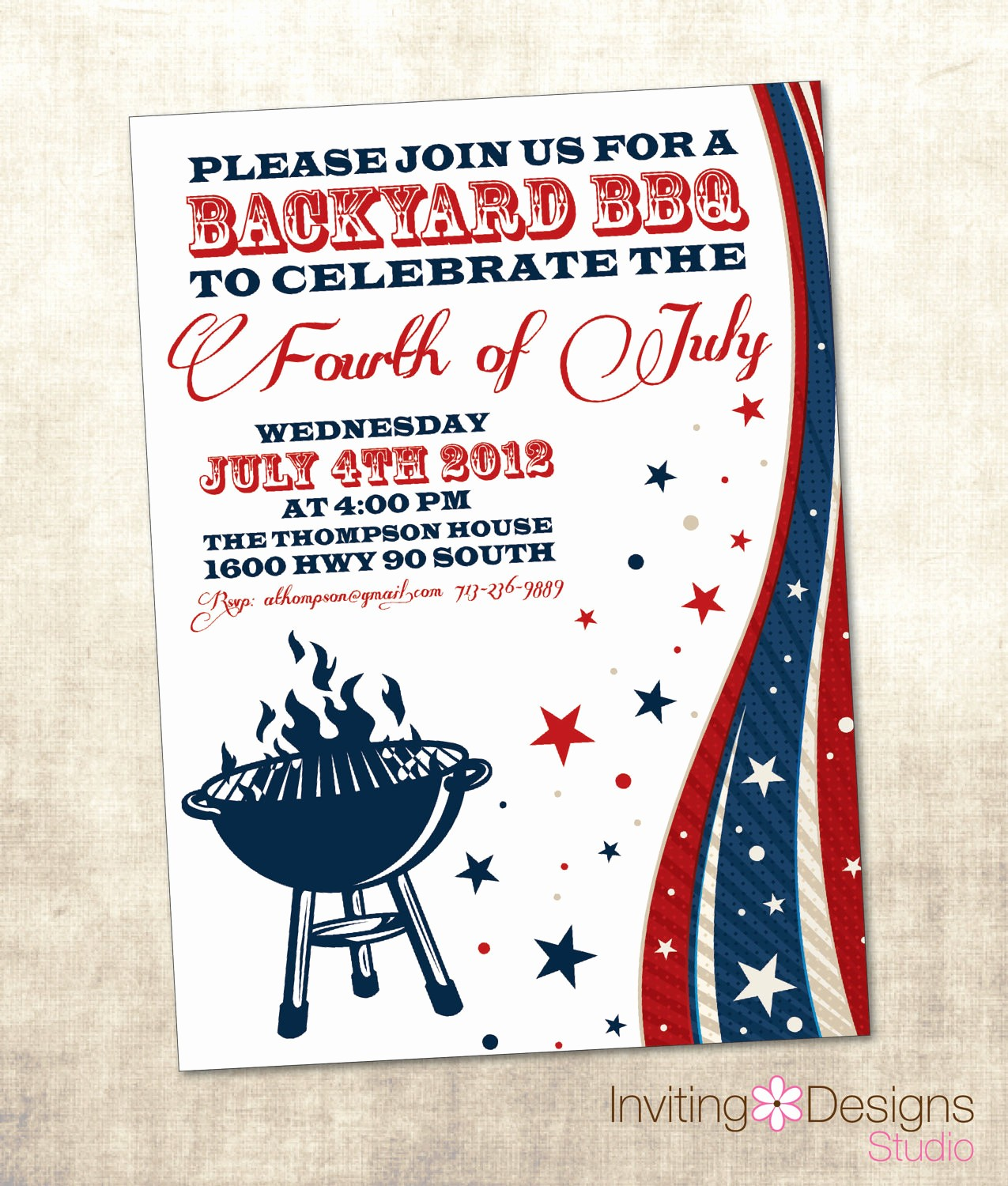 Fourth Of July Party Invitations New Unavailable Listing On Etsy