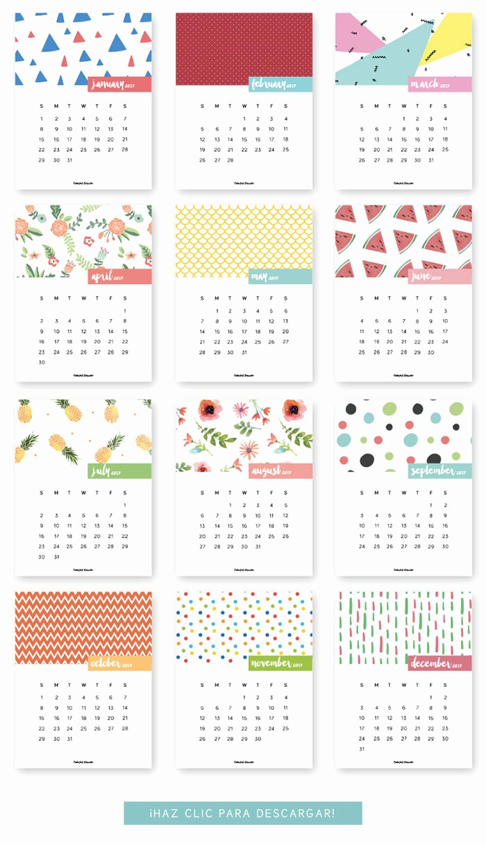 Free 12 Month Calendar 2017 Best Of 20 Free Printable Calendars for 2017 Hongkiat
