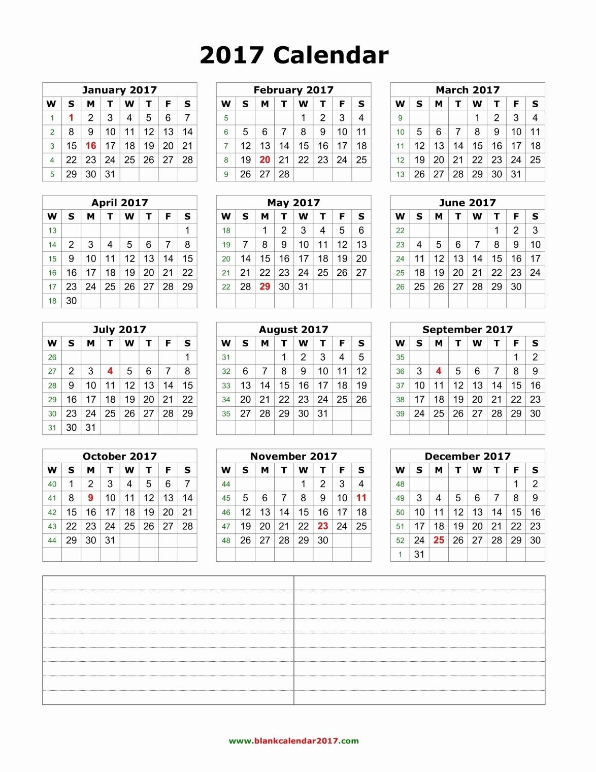 Free 12 Month Calendar 2017 Fresh Yearly Calendar 2017