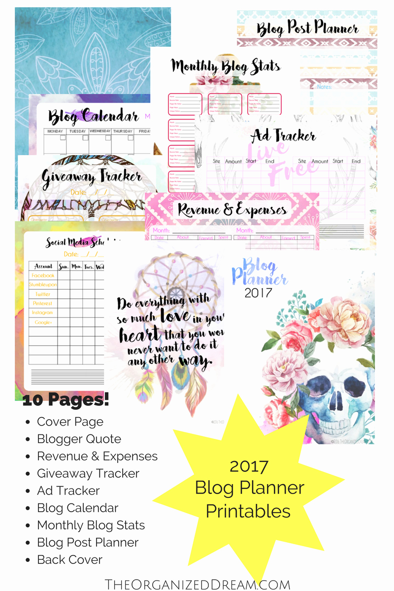 Free 12 Month Calendar 2017 Lovely Free 2017 Planners and 12 Month Calendar the organized Dream