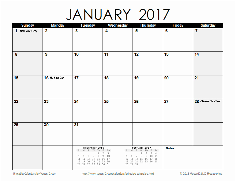 Free 12 Month Calendar 2017 New Free Printable Calendar Printable Monthly Calendars