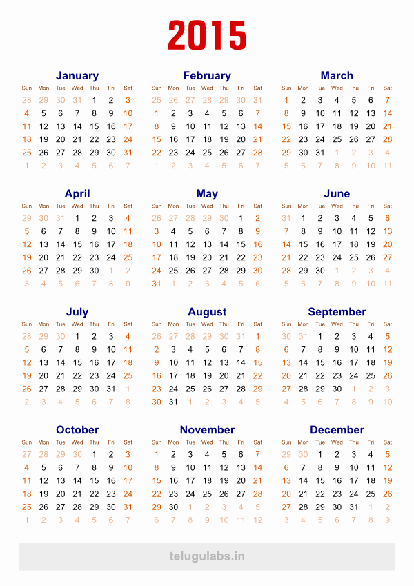 Free 2015 Yearly Calendar Template Elegant 12 2015 Yearly Calendar Template 2015 Calendar