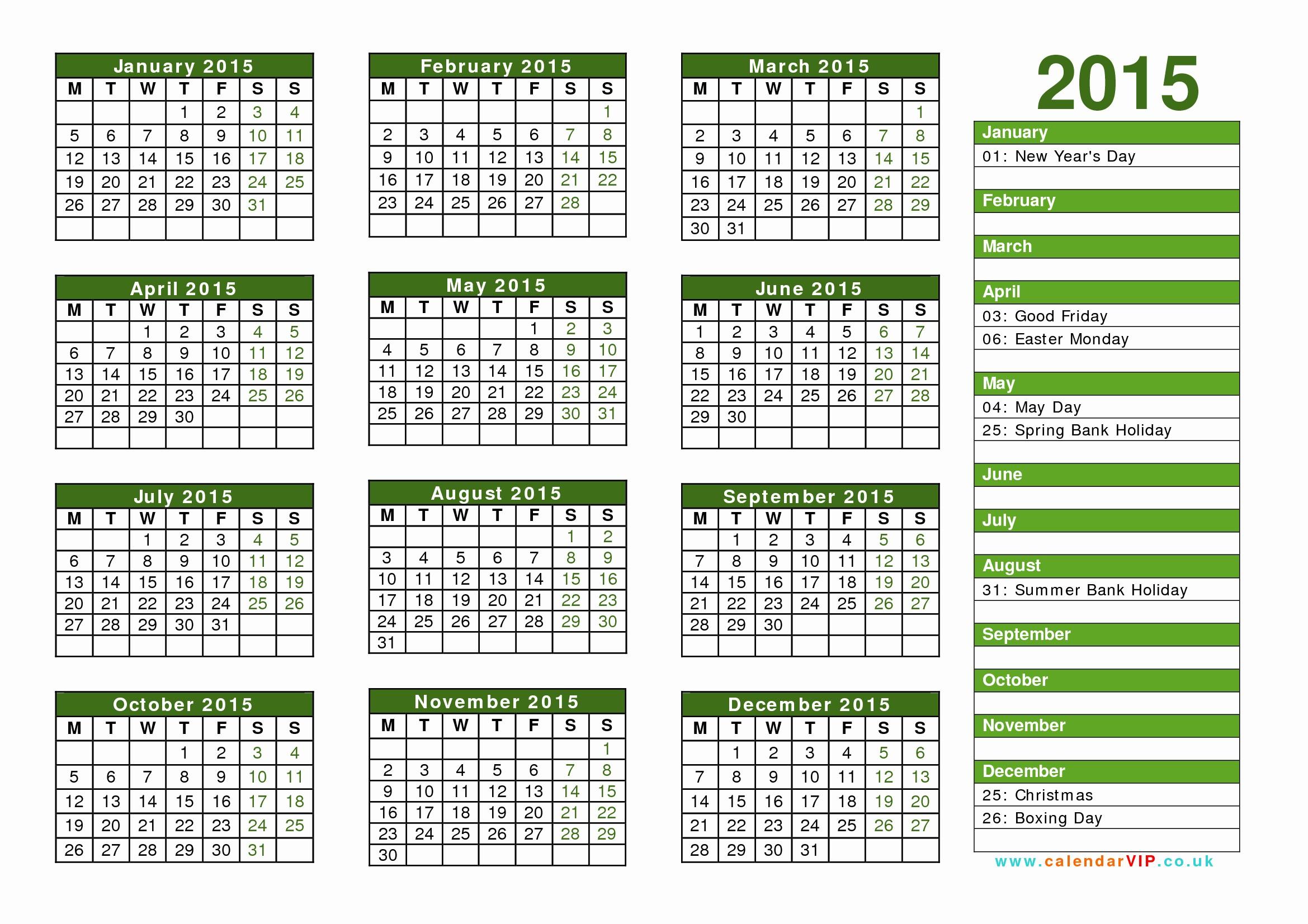 Free 2015 Yearly Calendar Template Elegant Calendar 2015 Uk Free Yearly Calendar Templates for Uk