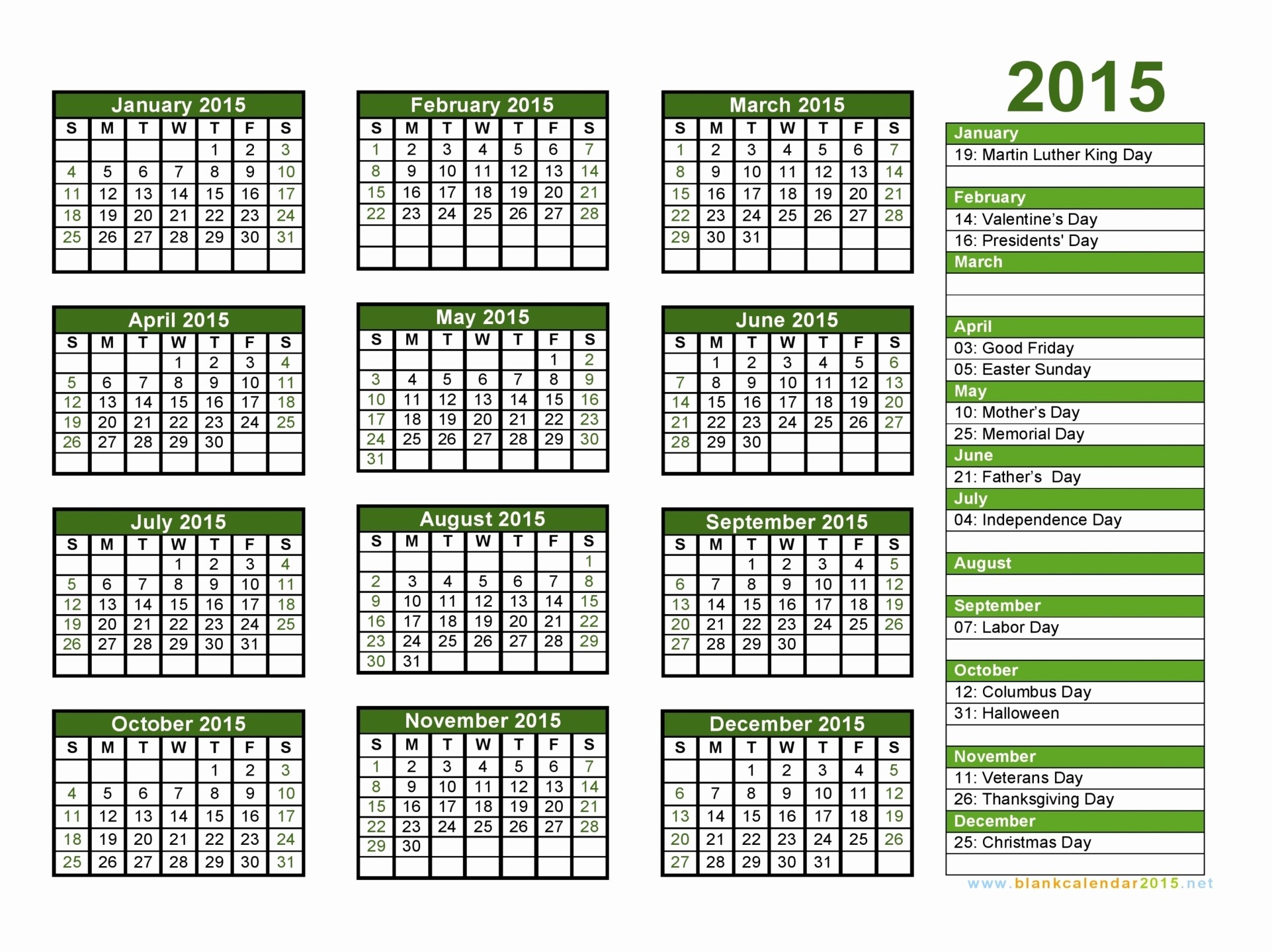 Free 2015 Yearly Calendar Template Fresh Print 2015 Calendar Free – 2017 Printable Calendar