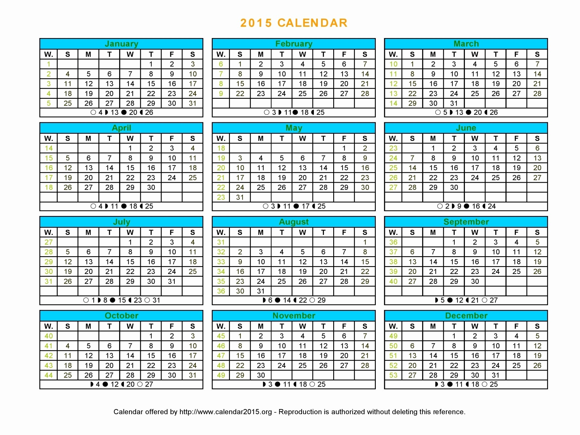 Free 2015 Yearly Calendar Template Inspirational 2015 Year Calendar Printable – 2017 Printable Calendar