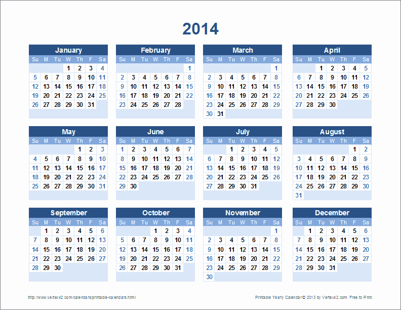 Free 2015 Yearly Calendar Template Luxury Free Printable Calendar Printable Monthly Calendars