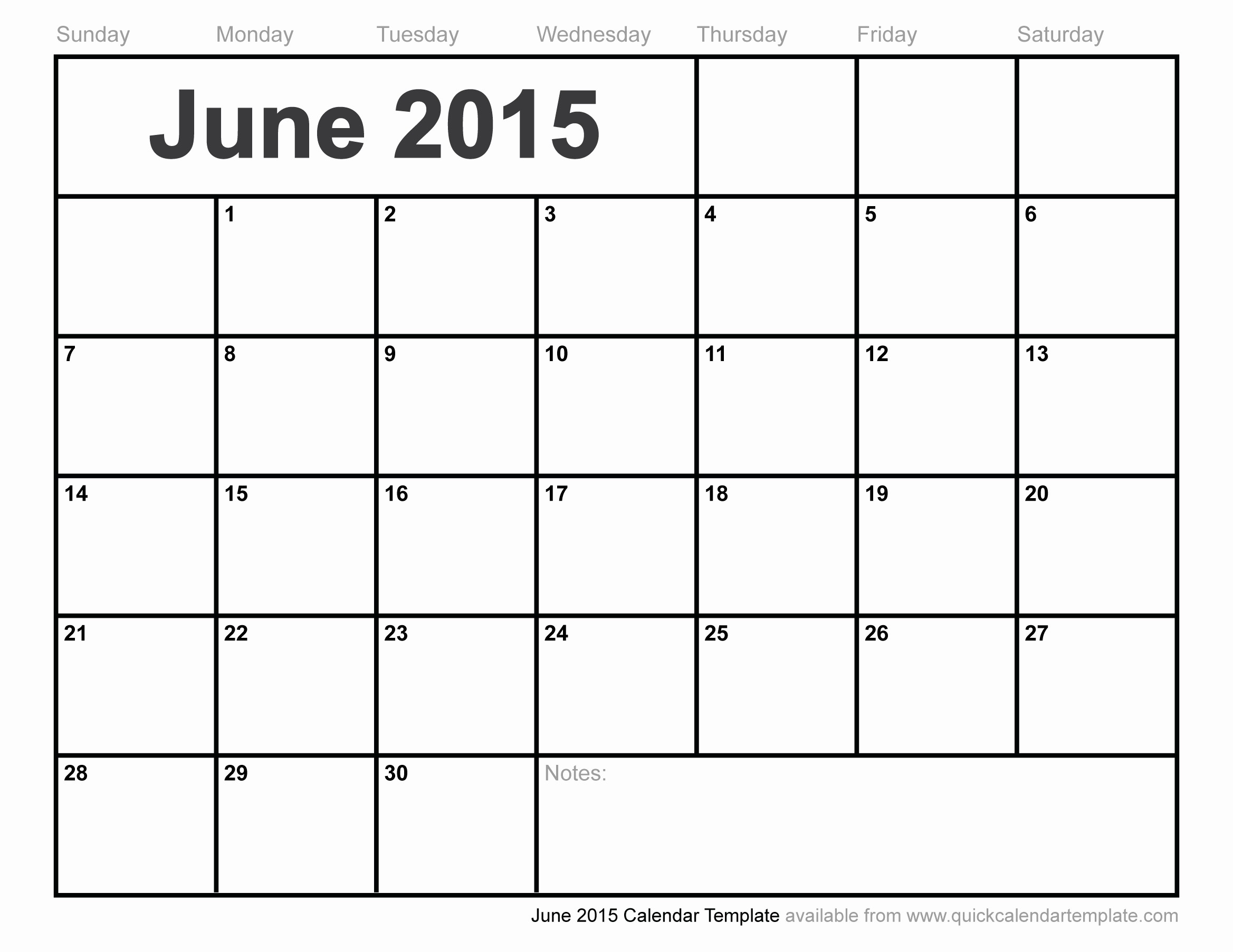 Free 2015 Yearly Calendar Template New June 2015 Calendar Template