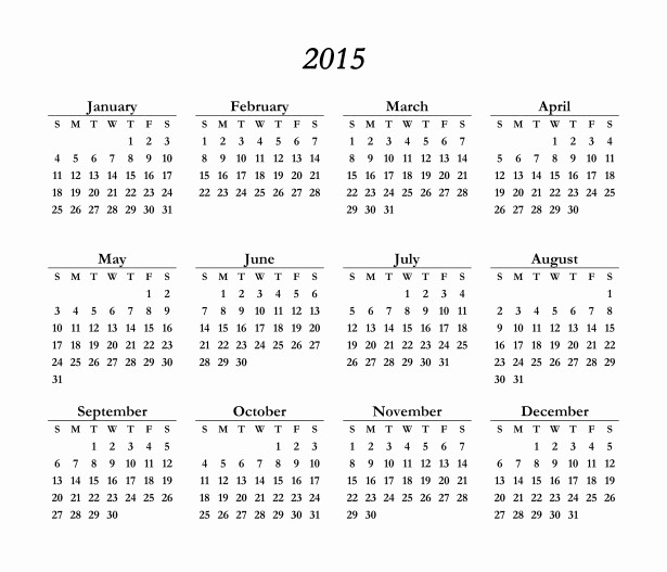 Free 2015 Yearly Calendar Template Unique 16 Blank Calendar Template 2014 2015 August 2015