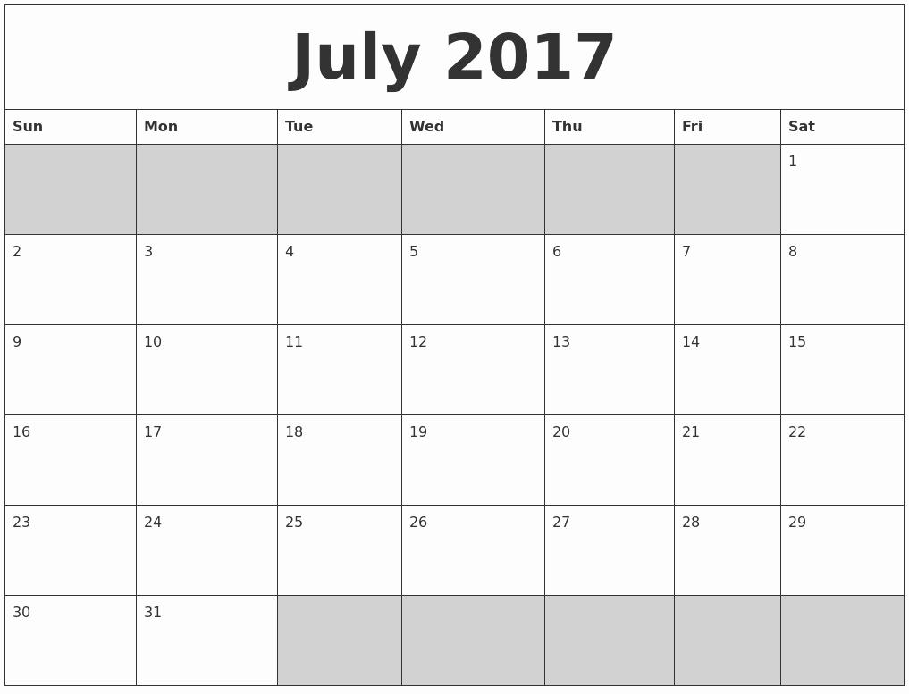Free 2017 Printable Calendar Word Awesome July 2018 Calendar Word