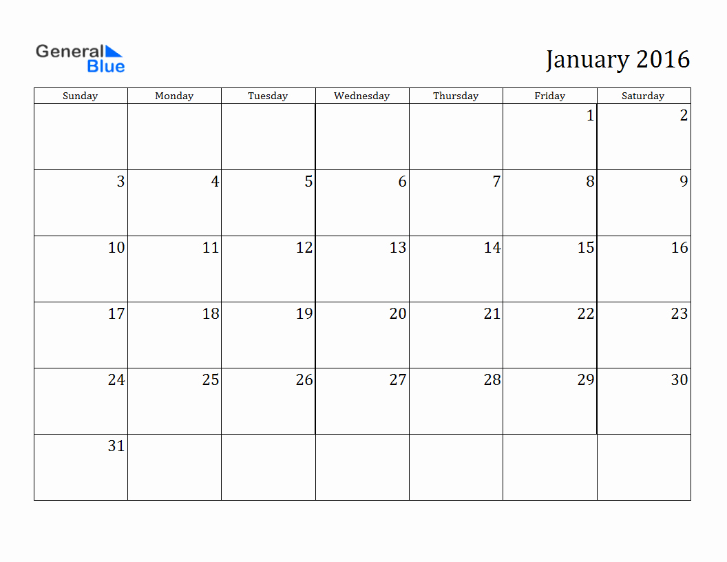 Free 2017 Printable Calendar Word Beautiful January 2016 Calendar Microsoft Word – 2017 Printable Calendar