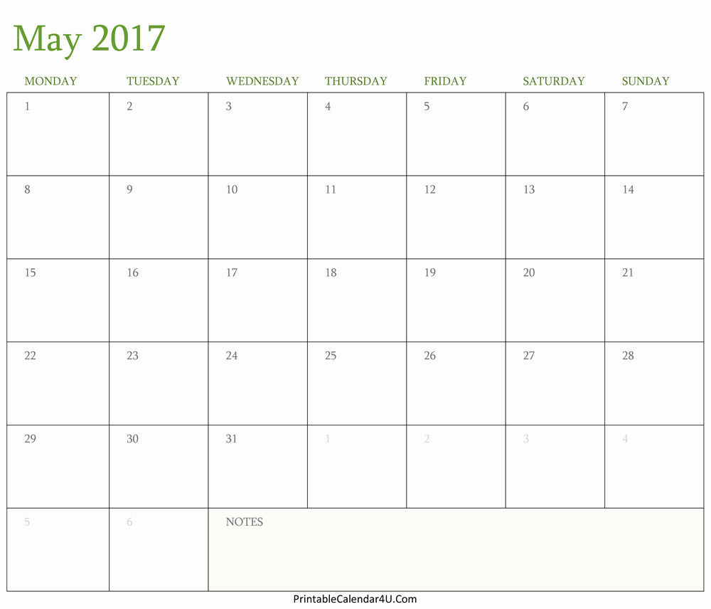 Free 2017 Printable Calendar Word Best Of May 2017 Calendar Printable In Word Pdf Monthly