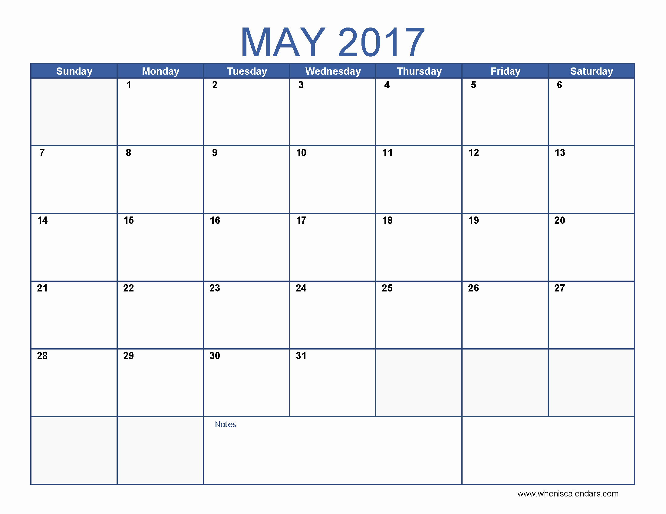 Free 2017 Printable Calendar Word Elegant May 2017 Calendar Word