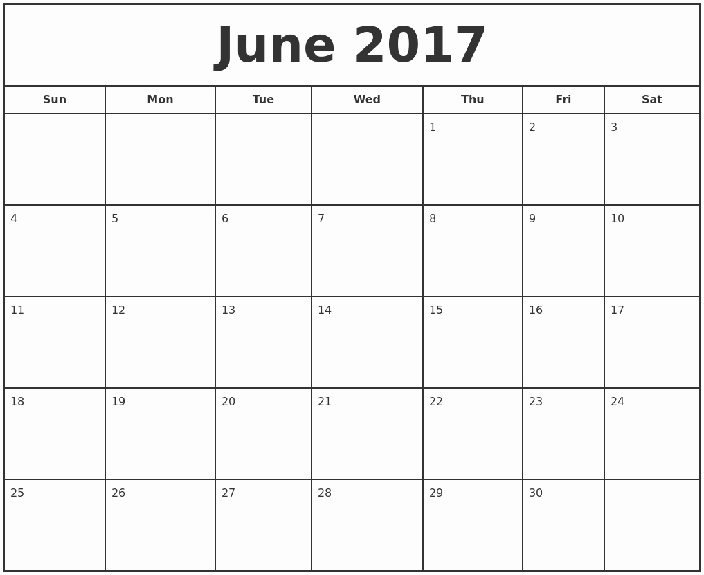 Free 2017 Printable Calendar Word Fresh June 2017 Calendar Word