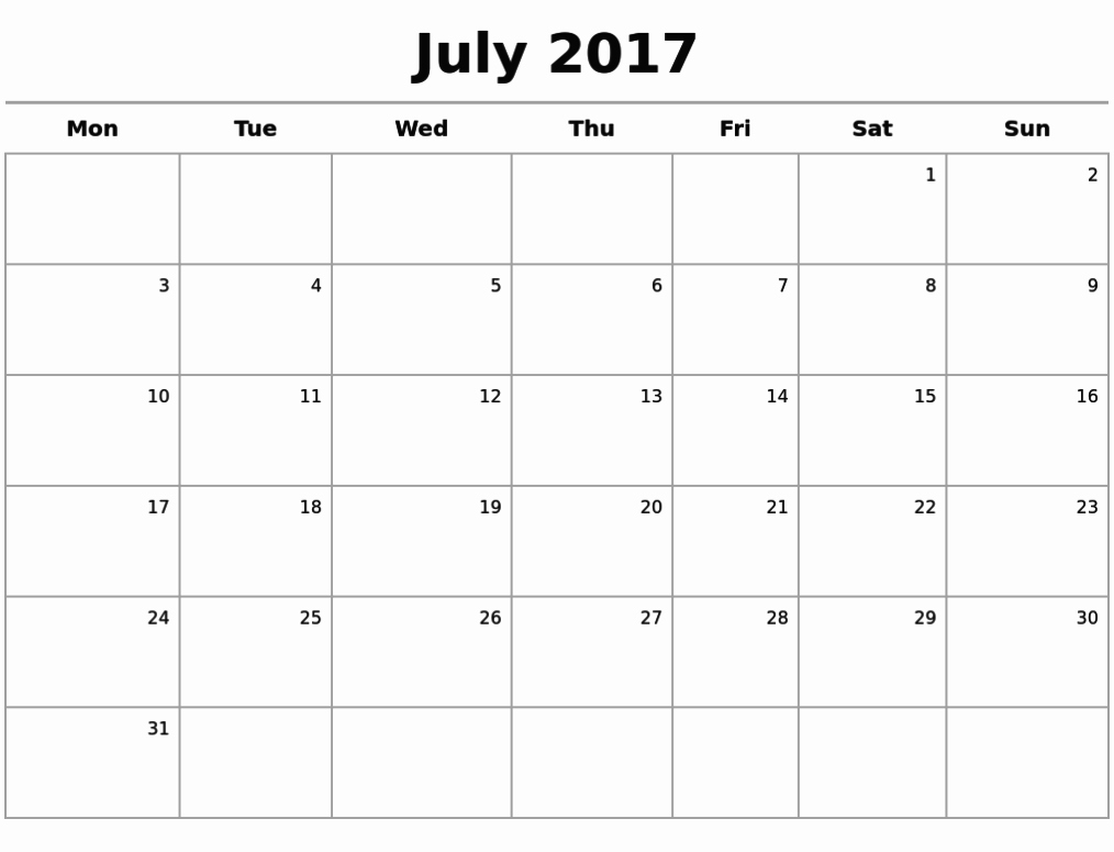 Free 2017 Printable Calendar Word Fresh Printable Calendar 2017 Microsoft Word July 2017 Calendar