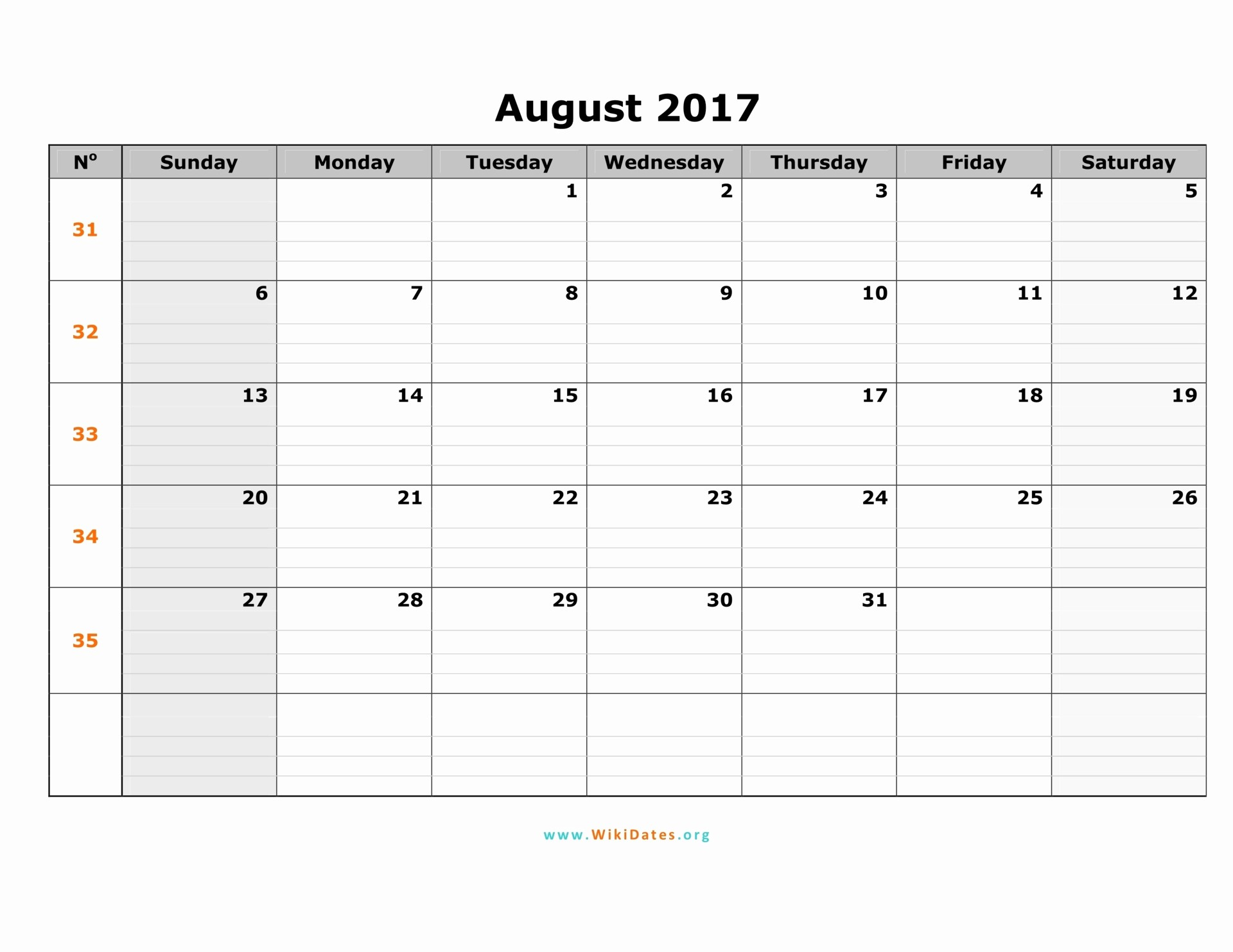 Free 2017 Printable Calendar Word Inspirational August 2017 Calendar Word