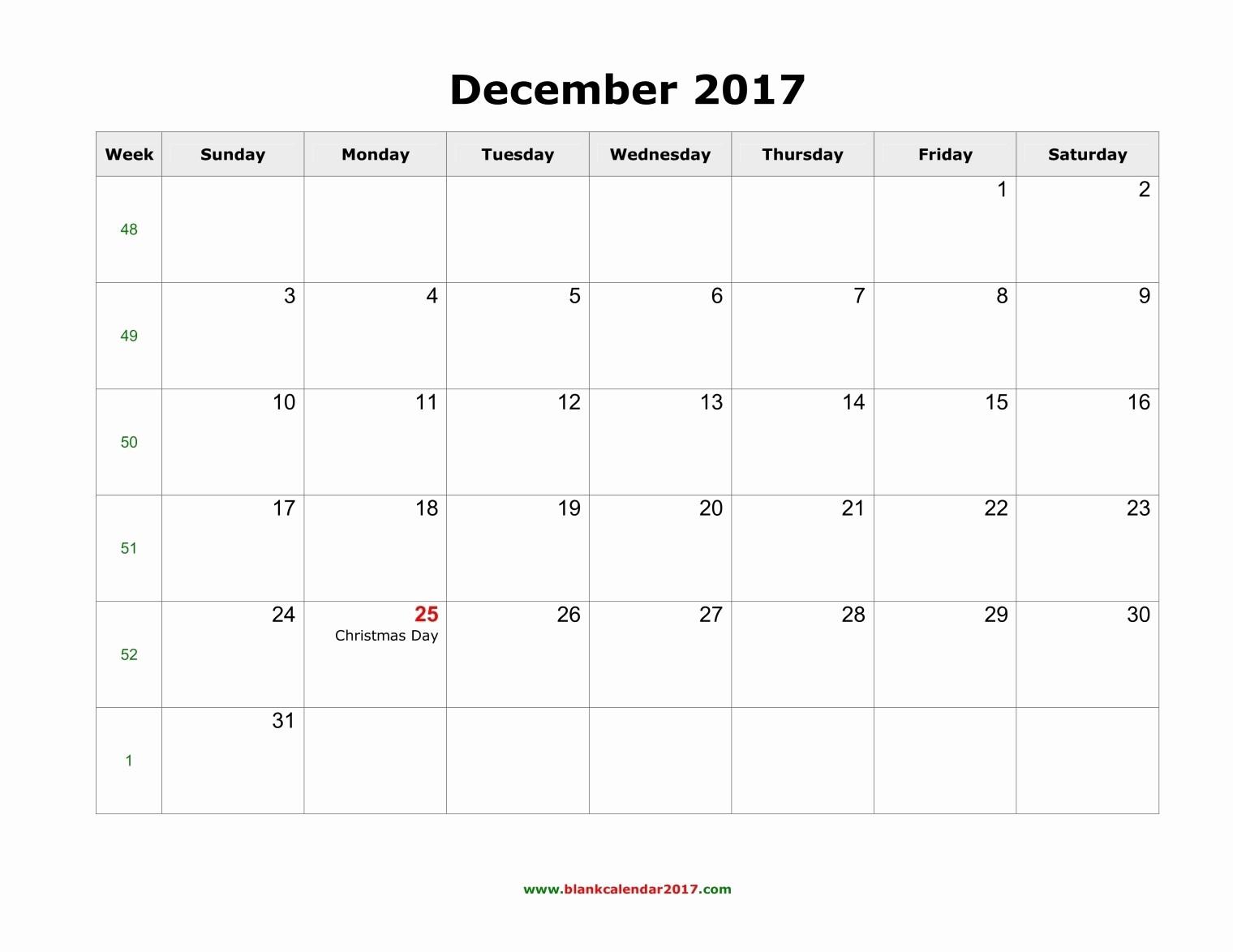 Free 2017 Printable Calendar Word Inspirational December 2017 Calendar Word