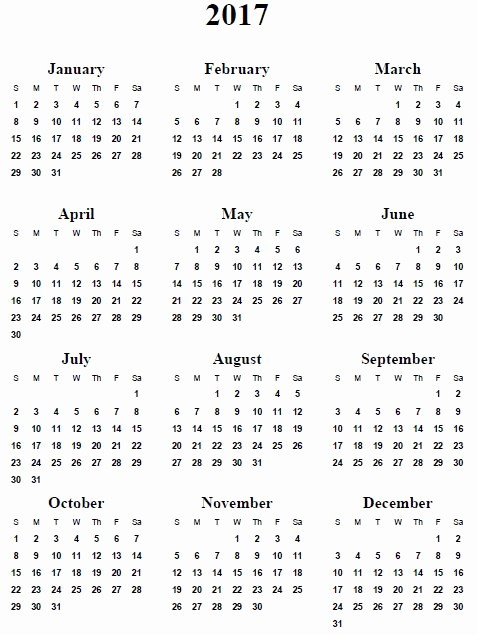 Free 2017 Printable Calendar Word Lovely 2017 Printable Calendar Template Holidays Excel & Word