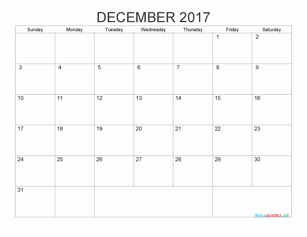 Free 2017 Printable Calendar Word Luxury 2017 Blank Calendar Printable Pdf Word Image