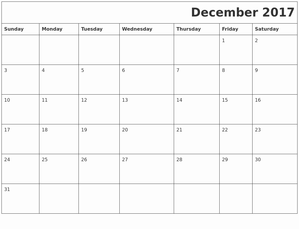 Free 2017 Printable Calendar Word Luxury December 2017 Printable Calendar Template Holidays Excel