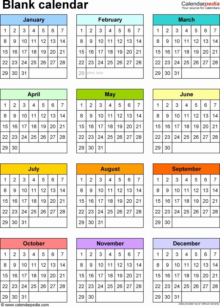 Free 2017 Printable Calendar Word Luxury Year at A Glance Calendar 2017 Free Printable