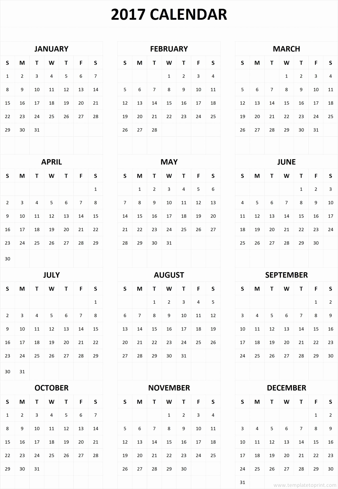 Free 2017 Yearly Calendar Template Best Of 2017 Calendar E Page