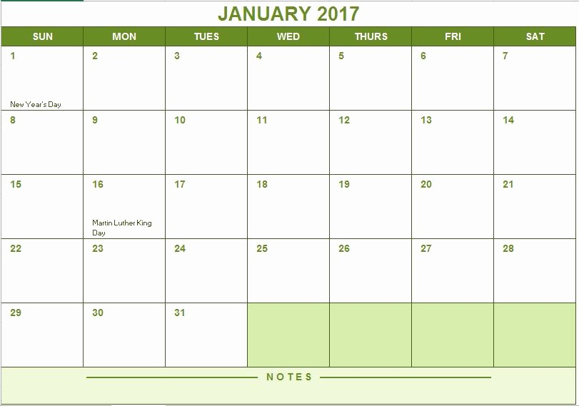 Free 2017 Yearly Calendar Template Fresh 2017 Full Year Calendar