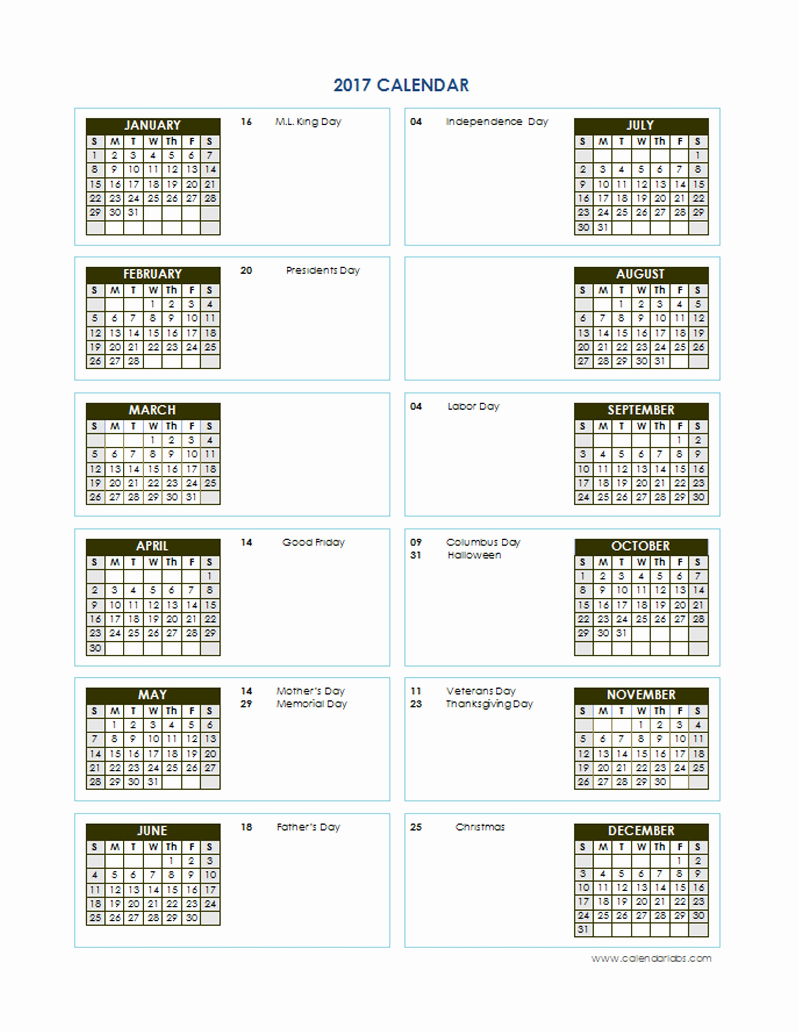 Free 2017 Yearly Calendar Template Luxury 2017 Yearly Calendar Template Vertical 02 Free Printable