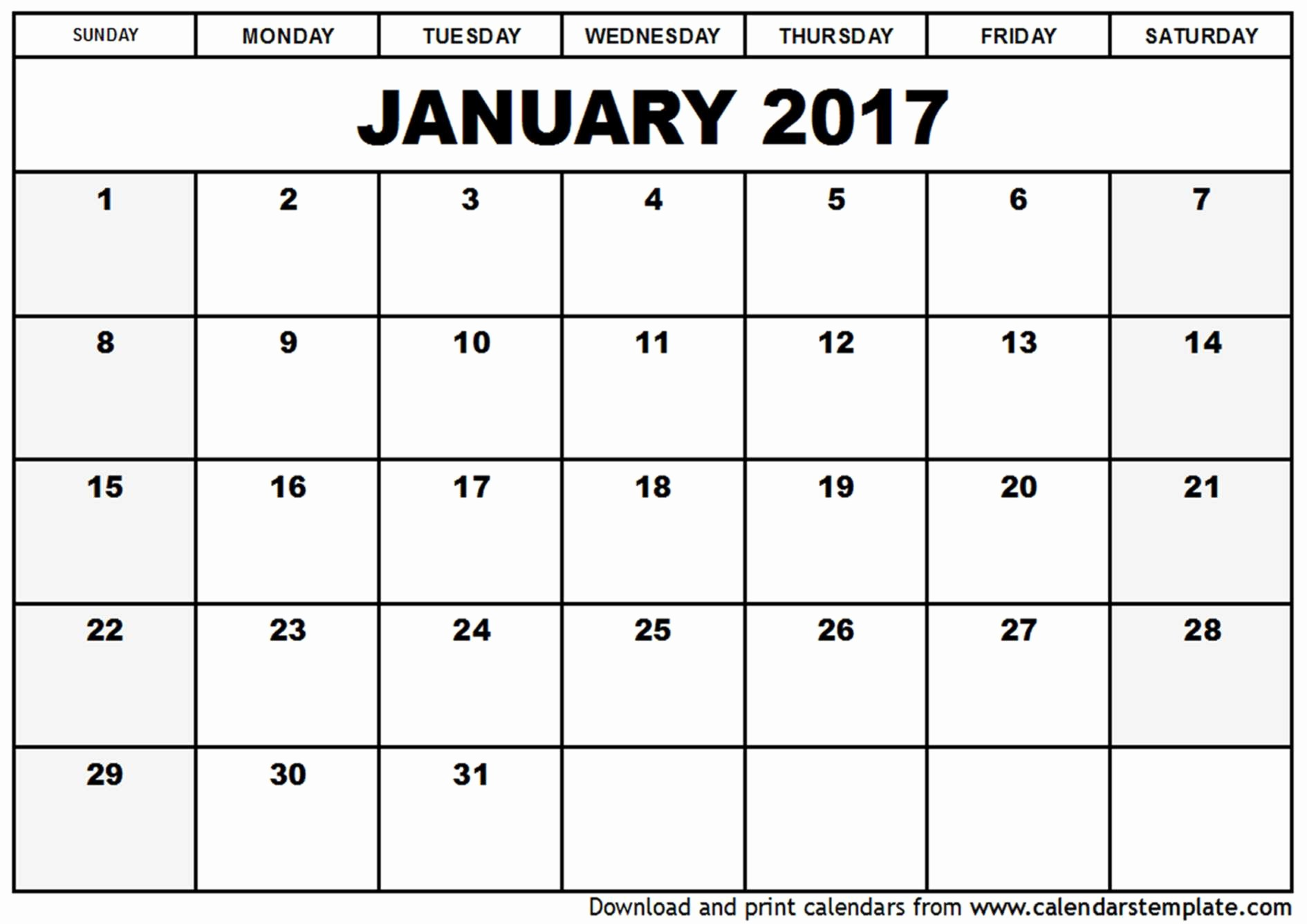 Free 2017 Yearly Calendar Template Luxury Free Calendar Template 2017