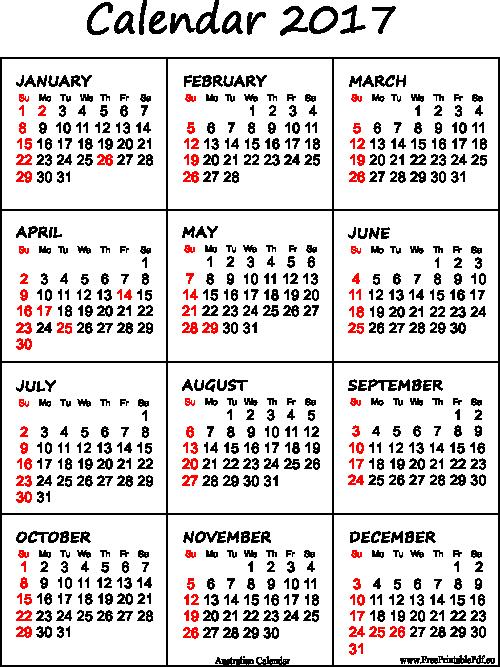 Free 2017 Yearly Calendar Template Unique Australian 2017 Calendar Printable